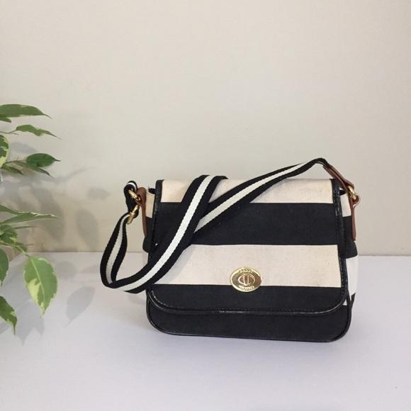 Tommy Hilfiger Handbags - Tommy Hilfiger striped fabric canvas crossbody bag